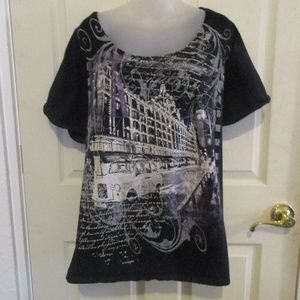 Lane Bryant black sparkly top/t-shirt 22/24